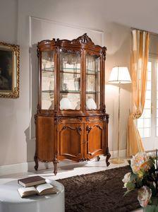 Chippendale armoire en verre 2 portes, Armoire en verre de style classique