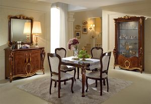Donatello vitrine avec 2 portes, Elegante vitrines, conception italienne classique pour le salon