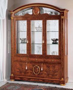 IMPERO / Display cabinet with 3 doors B, Vitrine en fr�ne avec portes en verre, style classique