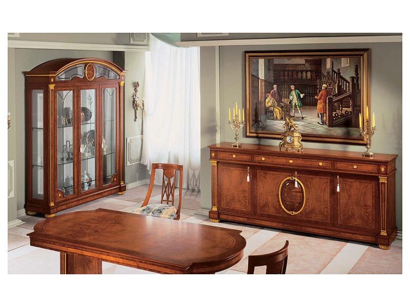 IMPERO / Display cabinet with 3 doors, Vitrine en bois de frêne artisanal