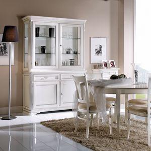 La Maison MAISON608T, Élégante armoire en cristal de style classique