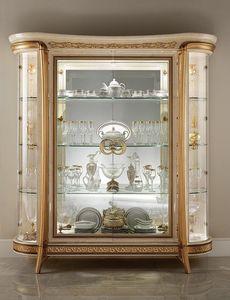 Melodia vitrine, Vitrine classique, avec 1 ou 2 portes, pour manger dans le style
