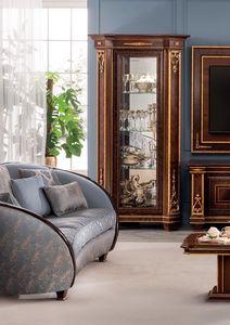 Modigliani vitrine 1 porte, Vitrine avec des d�corations artisanales
