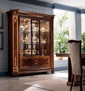 Modigliani vitrine 3 portes, Vitrine avec colonnes lat�rales imposantes