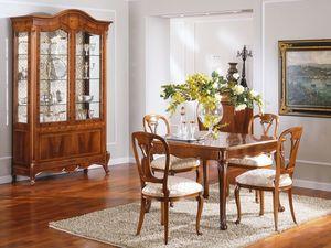 OLIMPIA B / Showcase 2 doors, Vitrine traditionnelle avec 2 portes, en bois massif sculpt�