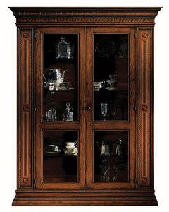 Portoferraio ME.0104.A, Vitrine avec 2 portes, �tag�res en verre, dans un style classique