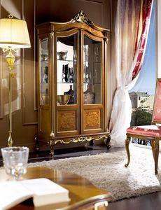 Regency vitrine 2 portes, Vitrine de style classique