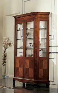 Settecento vitrine, Vitrine classique avec deux portes et l'�clairage int�rieur