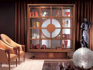 VL12 Il Quadro vitrine, Vitrine Bibliothèque, éclairage intérieur, style classique