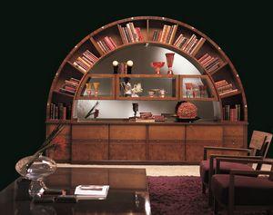 VL13 Arco, Cabinet Bibliothèque d'affichage, classique, incrusté