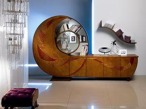VL18 Chiocciola, Vitrine, bibliothèque, buffet, meuble TV, pour le salon
