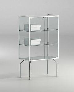 ALLdesign plus 71/12P, Petite vitrine, avec étagères en cristal