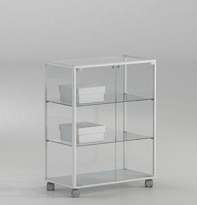 ALLdesign plus 71/BP, Petite vitrine pour les magasins, avec porte verrouillable