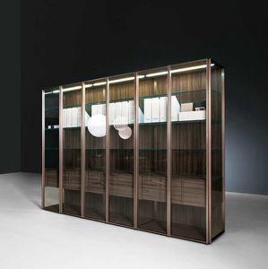 Teca Day, Moderne vitrine idéale pour les salles à manger ou salles de séjour