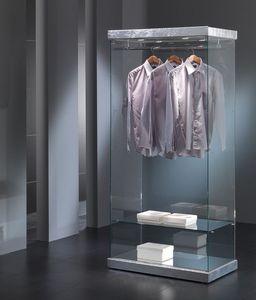 Black&White 9/SA, Vitrine d'exposition de vêtements, de la structure de verre, pour les commerces
