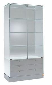 Laminato 100/CS, Vitrine en verre, avec tiroirs