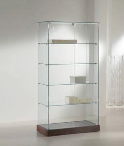 Laminato 130/CC, Vitrine avec étagères en verre