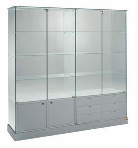 Laminato 160/CM, Grande vitrine avec portes et tiroirs