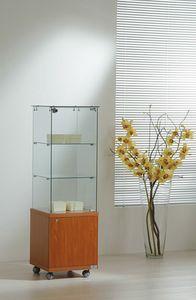 Laminato Light 4/14M, Vitrine, avec meuble bas en bois