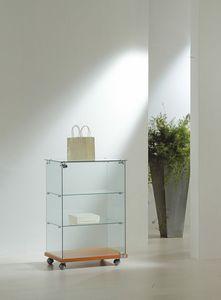 Laminato Light 6/90, Comptoir vitrine sur roulettes
