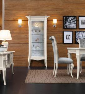 MONTE CARLO / vitrine avec 1 tiroir, Élégante vitrine pour salle à manger