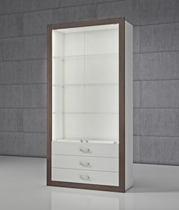 QF/SC, Vitrine modulaire avec tiroirs et portes
