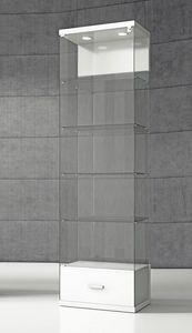 Quadratum VE/60C, Vitrine avec base avec tiroir