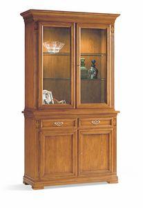 Villa Borghese vitrine 7374, Cabinet avec présentoir, pour salon